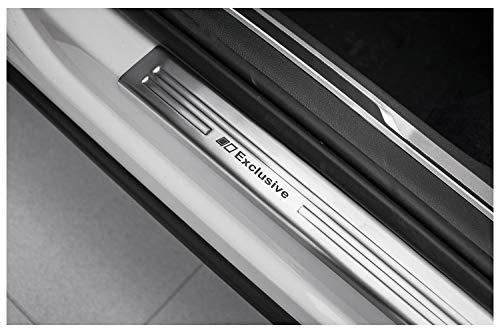 tuning-art EX128 Edelstahl Einstiegsleisten Set für VW Tiguan 2 AD1 2016-, Farbe:Silber