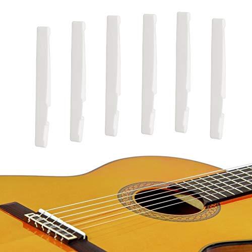 LAMEK Acústico Clásico Guitarra Hueso Puente