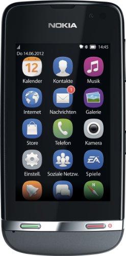 Nokia Asha 311 - Móvil libre (pantalla 3', cámara 3.2 Mp, 0.14 GB, 1 GHz), negro