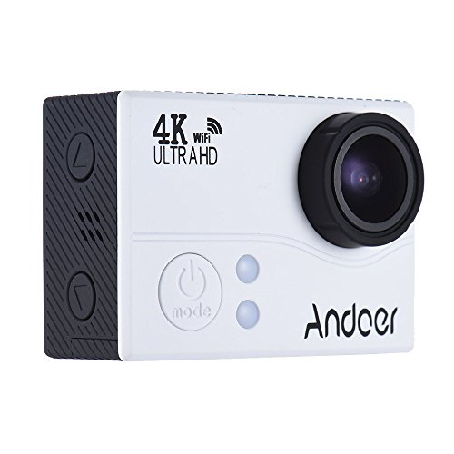Andoer 4K 1080P 60 FPS Full HD Acción Cámara 2.0in LTPS LCD Pantalla Wifi 45M Impermeable 170 ° Gran Angular Videocámara Cam Video Digital DVR Coche