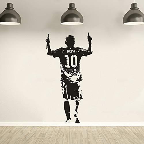 Messi Football Star Muursticker Home Decor Afneembaar Vinyl Messi Muurposter Football Club Speler Muurtattoo jongens cadeau