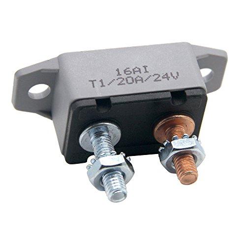 2PCS 12-24V 50 Amp ATV Resettable Circuit Breaker Fuse holder