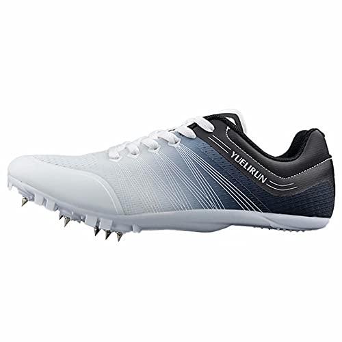 Zapatillas con Clavos para Correr en Pista y Campo - Zapatillas Deportivas para Carreras en Pista y Campo con Clavos extraíbles para niños y Hombres