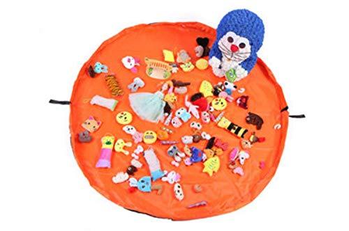 YFDD Sac de Rangement de Jouets for Enfants Portable et Tapis de Jeu Lego Jouets Organisateur Pouch Sacs à Cordonnet Rangement Pratique, Rouge, 50cm de diamètre aijia