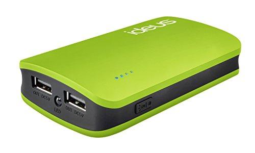 Ideus PBRU6600GN - Batería Externa con Micro USB de 6600 mAh, Color Verde