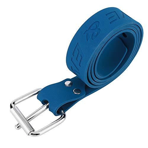 Weikeya Durable Buceo Peso Cinturón, Buceo Traje Acero Hebilla Inoxidable Acero Peso Goma(Azul)
