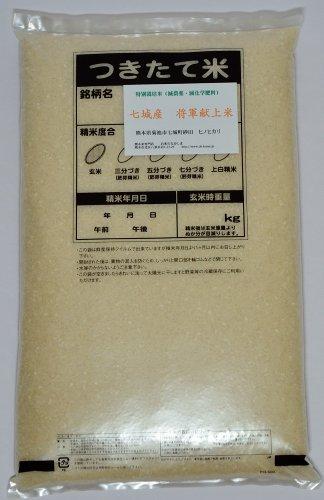 熊本県七城産 グランクリュ砂田の米 白米 ヒノヒカリ 4.5kg 令和1年産