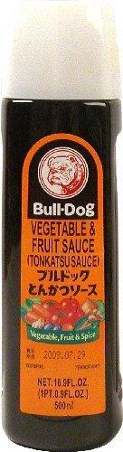 Bull-Dog vegetales y salsa de frutas tonkatsu SALSA 500 ml (Pack de 2)