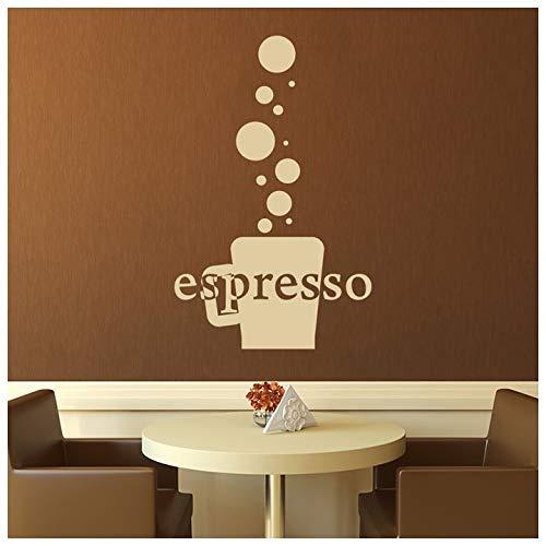 azutura Espressotasse Kaffee-Zitat Essen und Trinken Wandtattos Küche Dekor Art Decals verfügbar in 5 Größen und 25 Farben Klein Weiß