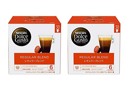 まとめ買いネスカフェ ドルチェ グスト 専用カプセル レギュラーブレンド 30杯分×2箱