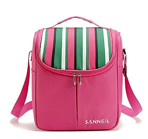 Thermique pour le déjeuner Pack de glace sacs de stockage de pique-niquer isolation sacs alimentaires,Pink