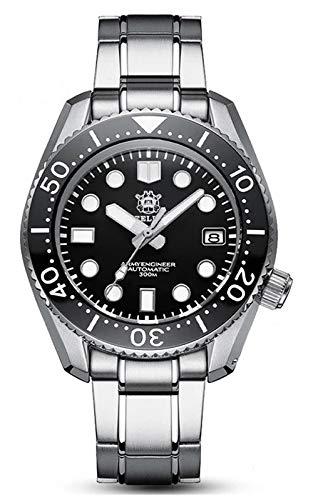 Steeldive SD1968 - Reloj de buceo, Monobloc 2020 ver, NH35, DD AR Zafiro, Lume, 300 m Diver, BNIB