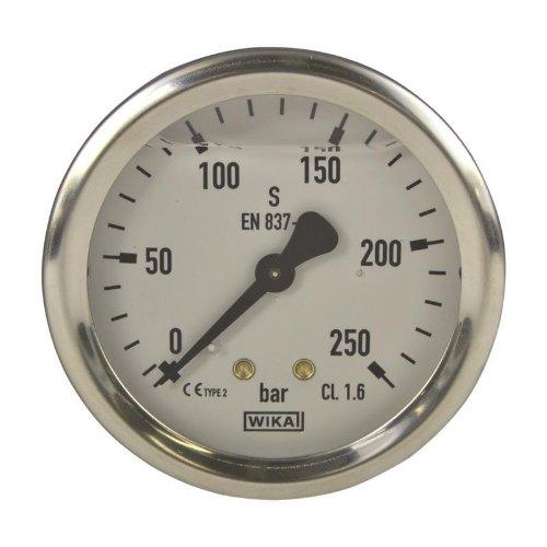 Manometer, NG 63, 0-250 bar - WIKA 213.53 - 9022449