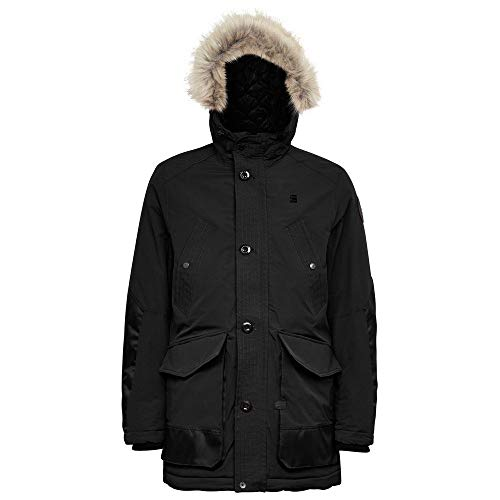 G-STAR RAW Mens Vodan pdd HDD Faux fur Parka, dk Black A281-6484, X-Small