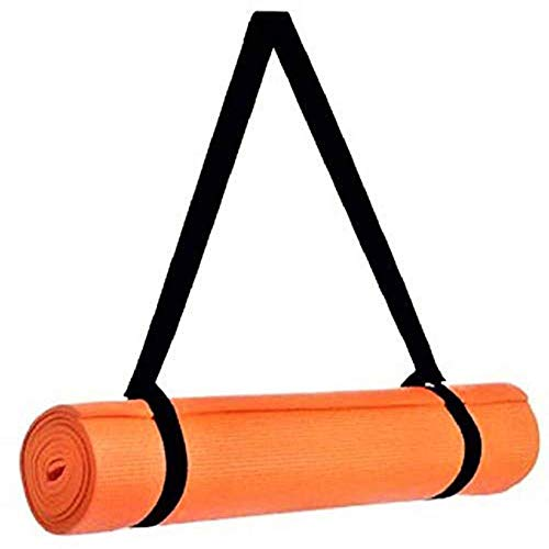 ARNV Yoga and Exercise Mat with Carrying Strap, 8mm (Orange)