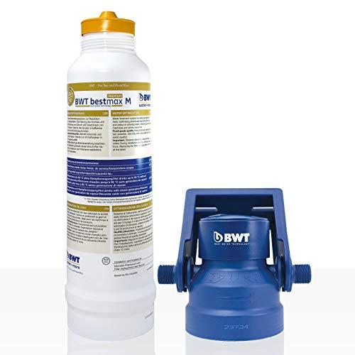 BWT Bestmax Premium Wasserfilter M Installationskit mit Filterkopf - 2050l Kapazität bei 10° Gesamthärte.