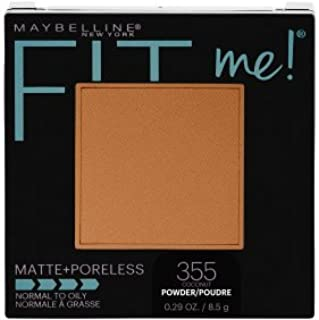 Maybelline Fit Me! Matte + Poreless Foundation Powder, 355 Coconut (Pack of 2)