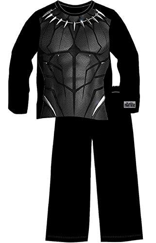 Marvel Zwarte Panter Pyjama voor Jongens | Kinderen Pyjama Set in Size Age 5-14 | Draag als Kids Pjs Of Lounge Broek | Lange mouwen Kleding met Logo en Superhero Kostuum Bedrukte Top