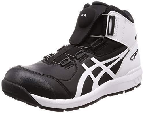 [アシックス] ワーキング 安全靴/作業靴 ウィンジョブ CP304 BOA JSAA A種先芯 耐滑ソール fuzeGEL搭載 ブラック/ホワイト 24.0