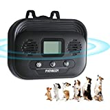 HXWEB PET Bark Control Device, Anti Barking Device, Dog Stop Barking Devices, Upgraded Ultrasonic Dog Bark Deterrent with 3 Frequency Levels for Outdoor Indoor, Up to 50 FT Range