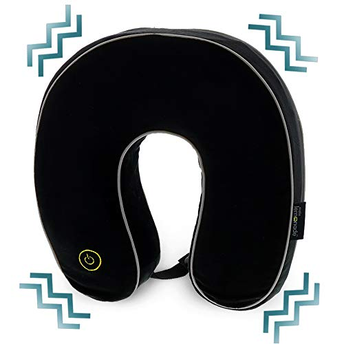Make Lemonade Travel Pillow with Vibration | Memory Foam Neck Pillow for Airplane, Train, or Car | Battery Operated