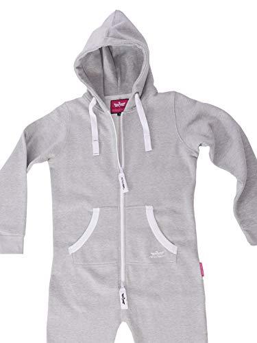 GB4 Finchgirl Damen Jumpsuit Jogging Anzug Trainingsanzug Overall Hellgrau - 4