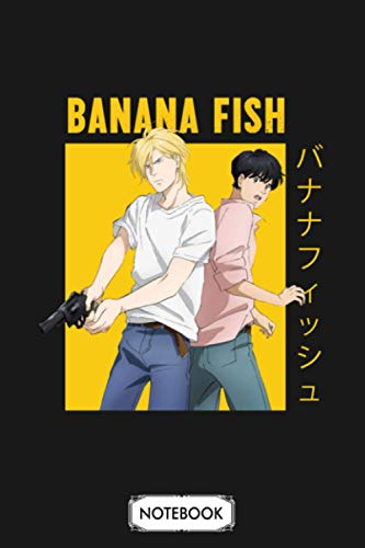 Banana Fish Ash Lynx Eiji Okumura Yaoi Anime Notebook: Matte Finish Cover, Journal, Planner, 6x9 120 Pages, Lined College Ruled Paper, Diary