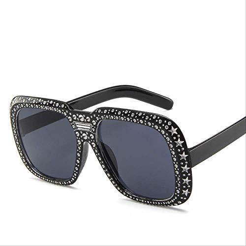 YKDDGG Zonnebril Mannen Vierkante Zonnebril Voor Vrouwen Pentagram Frames Vintage Persoonlijkheid Zwart Man Zonnebril Zonnebril Zijn Gemaakt Van High-end Materialen Voor Duurzaamheid