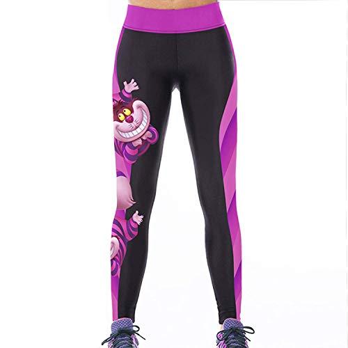 Sasairy señoras de las mujeres de las polainas de Deportes de cuerpo entero pantalones elástico pantalones de las medias No se consideran a través la aptitud de la yoga Entrenamiento Running Wear inconformista al aire libre Gimnasio tamaño XS-M
