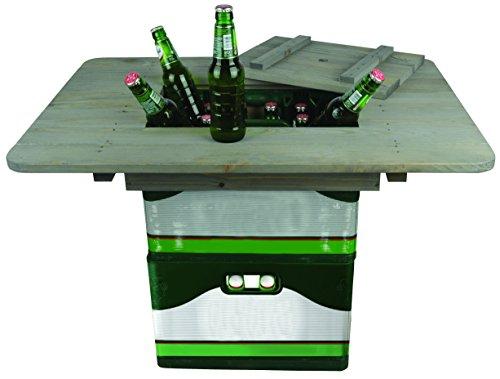 Esschert Design Bierkistentisch aus Kiefernholz, 78 x 57,4 x 11 cm, Partyzubehör, Party-Gartentisch