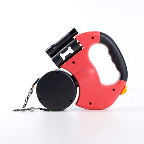 Jifanshi Double End Retractable Dog Leash for Two Dogs and Two Dogs in One