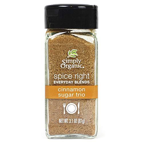 Simply Organic Spice Right Everyday Blends Cinnamon Sugar Trio, Certified Organic, Vegan, Vegetarian | 3.1 oz