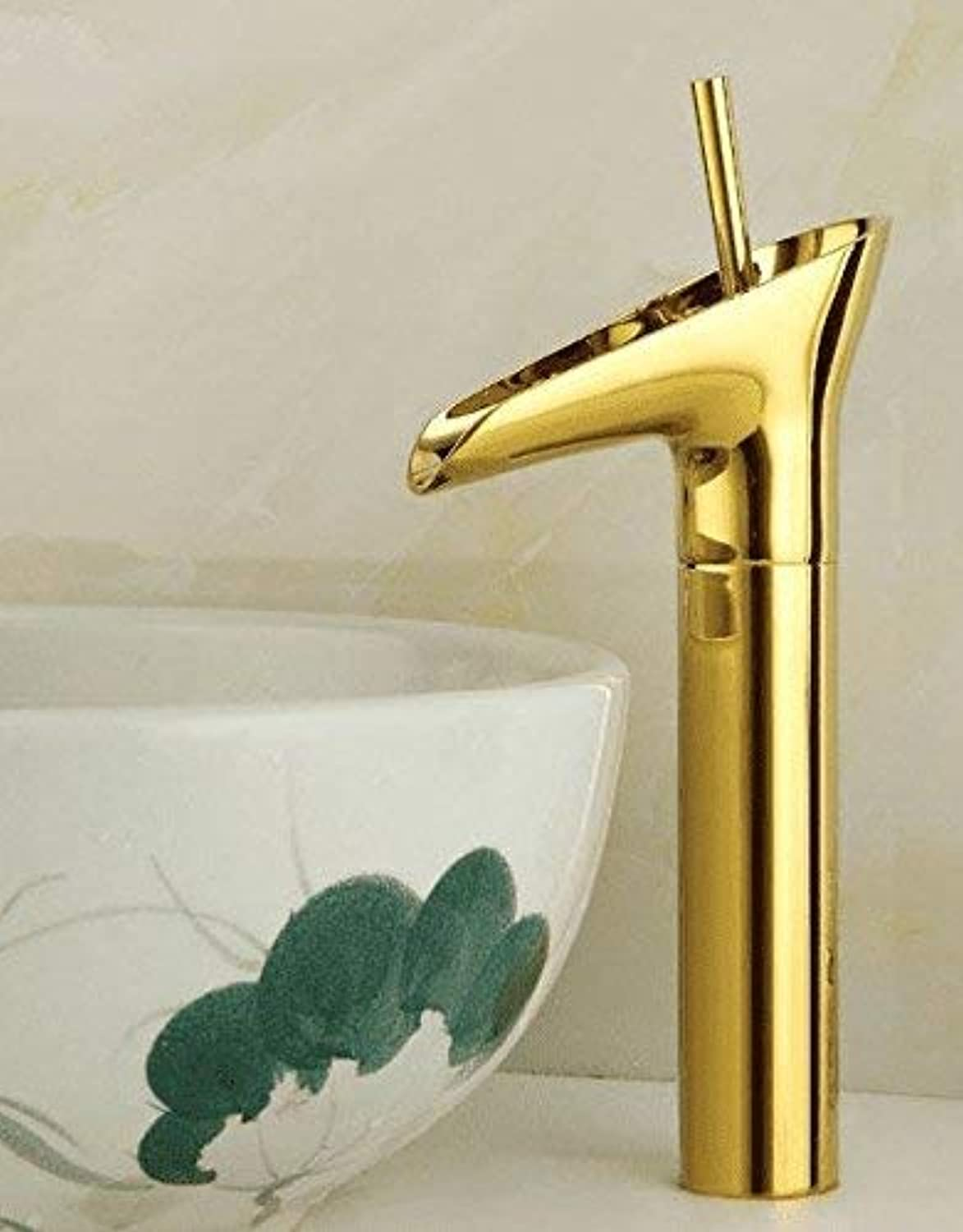 Ywqwdae Sink Taps European retro style copper Basin golden Hot and cold