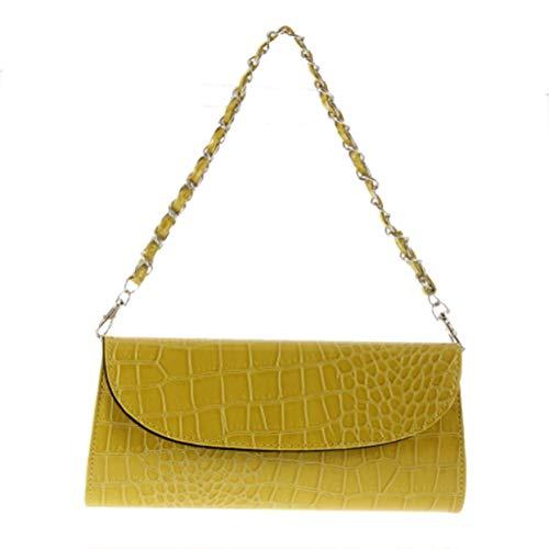 ShenyKan Women Shouder Hand Bag Croco Faux Leather Charol Negro Evening Party Bag Monedero Exquisitamente diseñado Duradero Precioso