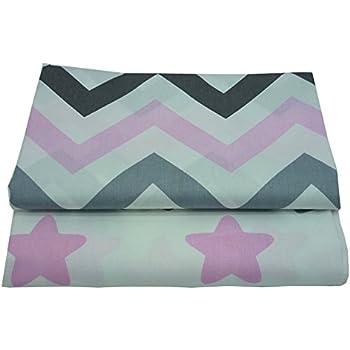 2 piezas 50cm * 160cm Estrellas zigzag estampado tela de algodón ...