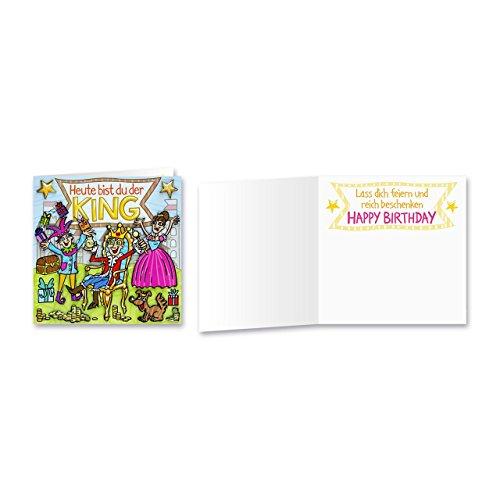 Sheepworld, Gruss & Co - 90019 - Klappkarte, mit Umschlag, Geburtstagsgrüsse mit Pop Nr. 19, Heute bist du der King