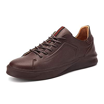 Osslue Men's Sneaker Casual Classic Burgundy Genuine Leather Shoes Lace-up Fashion Skate Shoes 9.5 M US OSS-1988JHS-095