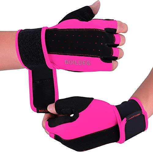 Fitness Handschuhe,Trainingshandschuhe,Gewichtheben Handschuhe für Bodybuilding Crossfit,Damen&Herren (ROSA, M)