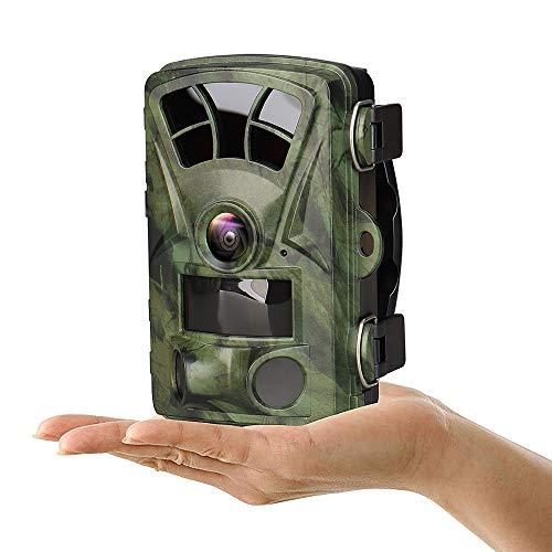 CANIS LATRANS Wildkamera 16MP 1080P Infrarot Nachtsicht bis zu 20 m, 120° Weitwinkelobjektiv 6,1 cm Farbdisplay Wasserdicht Indoor Outdoor Überwachung