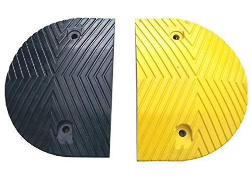 RSB-215EBY Montículos de Velocidad Par. Partes de extremo negro y amarillo 25x35x5cm