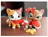 Judylovelps lps Custom Shorthair Cat Elk Meow Kittem OOAK with lps Accessories Christmas Lot Shawl Drinks Scraf Ginggerbread Man Kids Xmas Gift