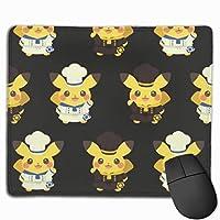 かわいいピカチュウ マウスパッド ゲーミング オフィス最適 高級感 おしゃれ耐久性が良 付着力が強い30x25x0.3cm
