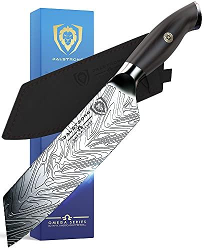 DALSTRONG Edles Santoku Messer - 18 cm - Omega Series - Kochmesser mit Klingenschutz - Amerikanischer BD1N-VX - Hyper Stahl