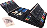 Colored Pencil Set for Adult Coloring Drawing Pencil Set 144 Piece Kit Sketching Shading & Coloring Books Professional Premium Art Kit Set for Paniting Drawing for Kids Teens Adult Gifts