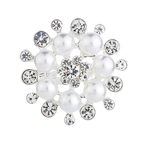 HOHHJFGG Broche De Flor De Perla Tachonado De Diamantes Ropa De Moda Broche De Ramillete De Gota De Agua con Flecos Accesorios De Ramo De Boda