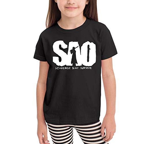 WushXiao Sword Art Online Children's T-Shirt Black 3t