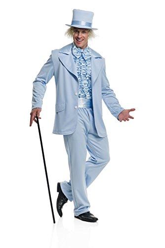 Nick Graham Men's Slim Fit Stretch Finished Bottom Suit, Bright Blue, 42 Regular