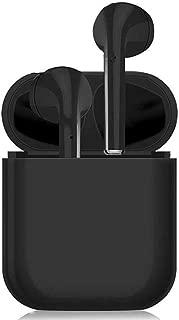 【Bluetooth 5.0 タッチ式】 Bluetooth イヤホン HIFI高音質 IPX5防水 Siri対応 ワイヤレスイヤホン 両耳通話 Hi-Fi 高音質 ノイズキャンセリング イヤフォン 左右分離型 ブルートゥース イヤホン 落下防止 充電式収納ケース付き マイク内蔵 自動ペアリング iPhone/iPad/Android適用 ヘッドホン