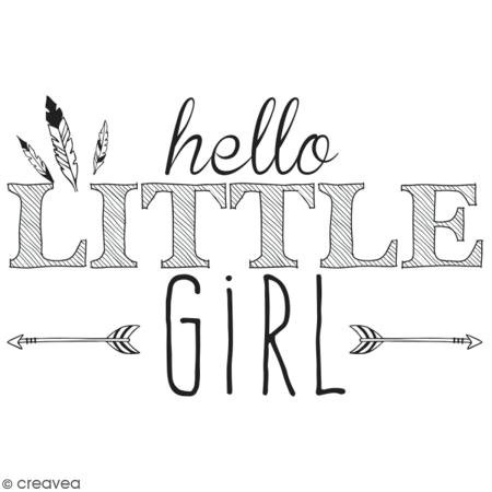 Aladine 01725 Stempel D Hello Little Girl