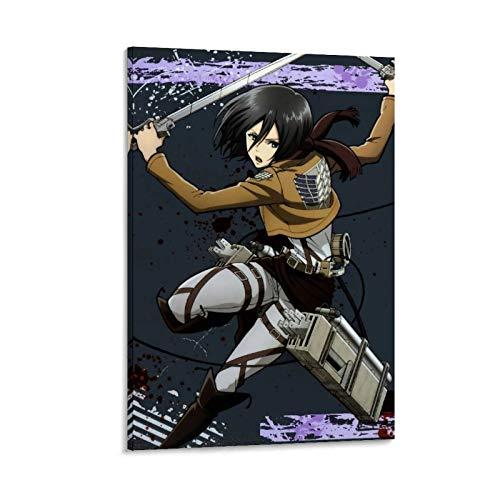 DRAGON VINES Mikasa Ackerman Attack on Titan - Lienzo decorativo para pared (20 x 30 cm)